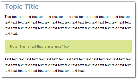 CSS Tip: Creating Tip or Note Boxes without a Div or Table