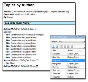 FREE Reports in MadCap Flare