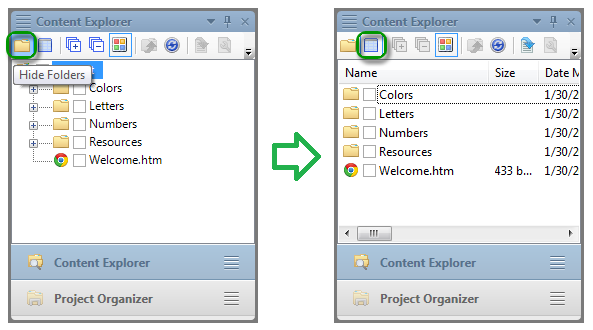 Content Explorer Files View