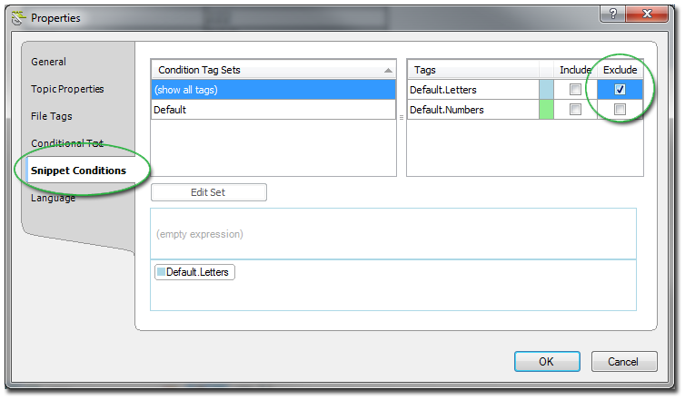 Exclude Conditional Tag