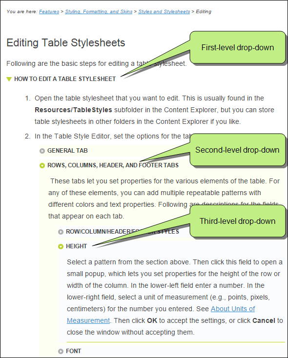 TableStylesheets