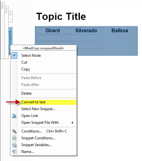 Advanced Snippet Tips with MadCap Flare