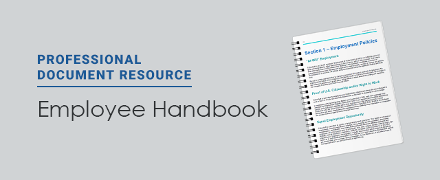 An Employee Handbook Is Essential To Convey Expectations To Employees;  However, Not Every Organization Has The Time And Resources To Write The  Document From ...