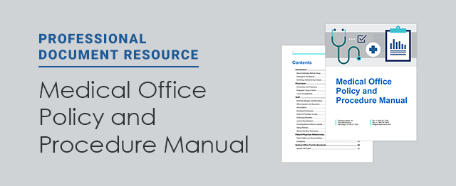 New resource free medical office policy and procedure manual now available for doc to help users - Procedure hospitalisation d office ...